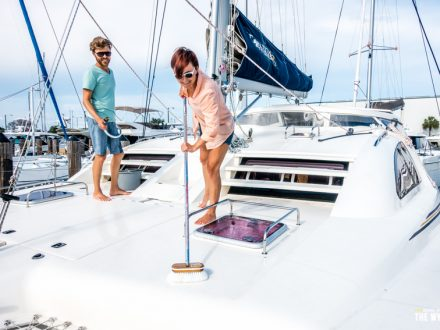living on a catamaran