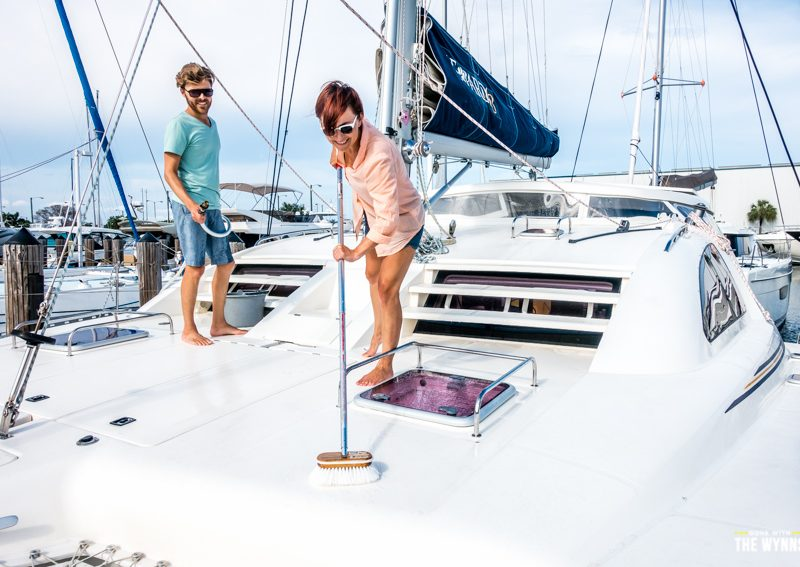 living on a catamaran