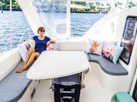 DIY sailboat cockpit cushions