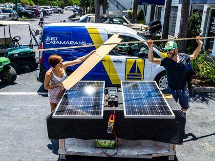 sailboat solar testing