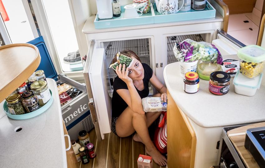 defrosting sailboat fridge