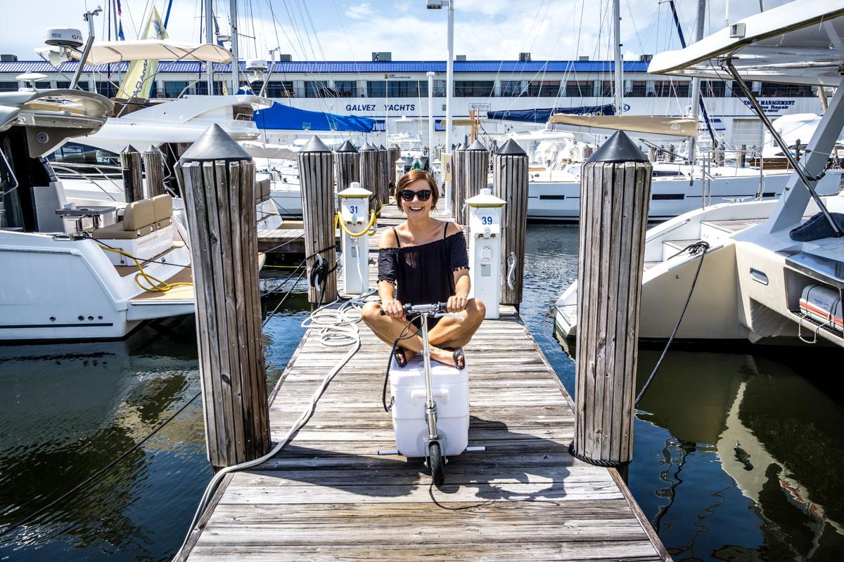 cruzin cooler on sailboat
