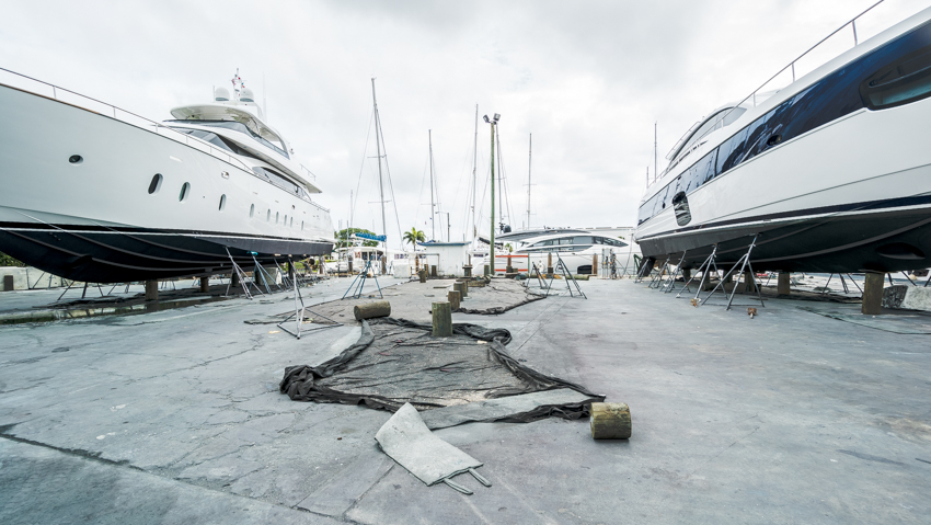 poor hurricane preparation for boats