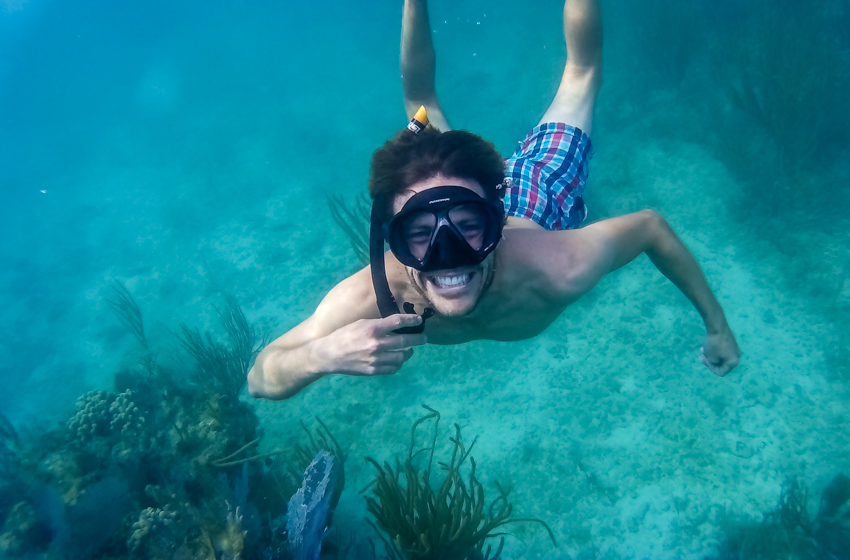 jason wynn snorkeling bahamas