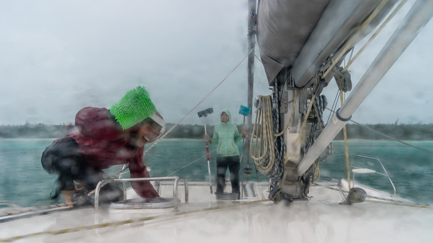 rain on sailboat means free wash