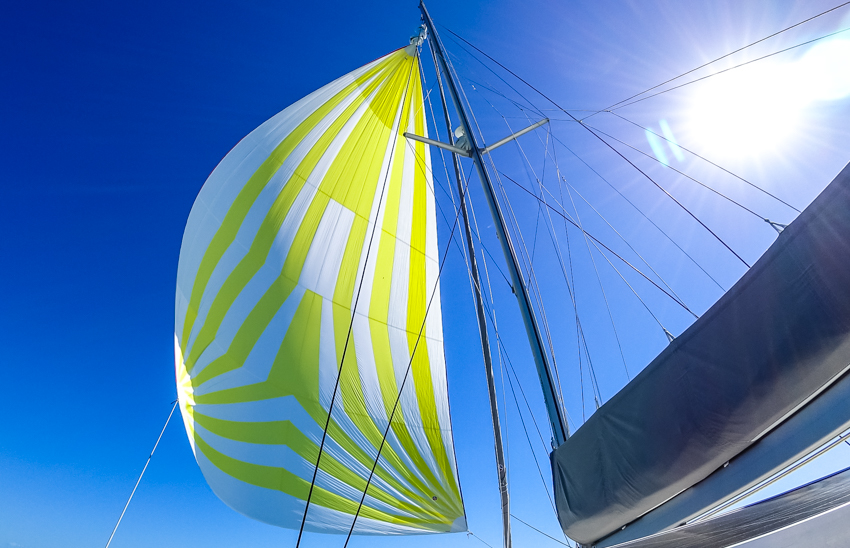 downwind spinnaker sailing