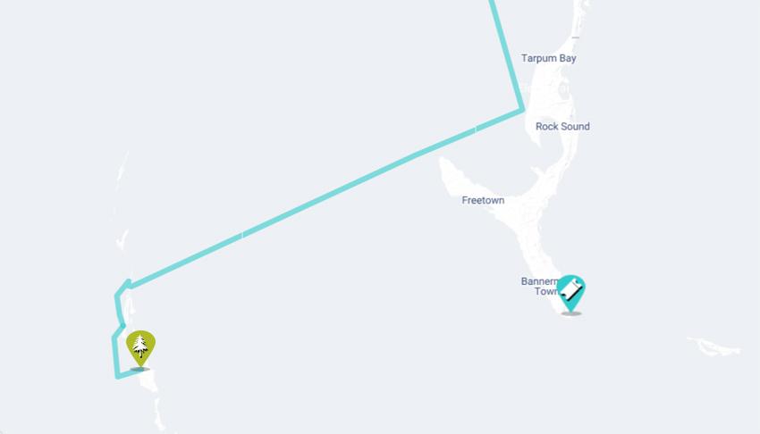 Land and sea sailing map