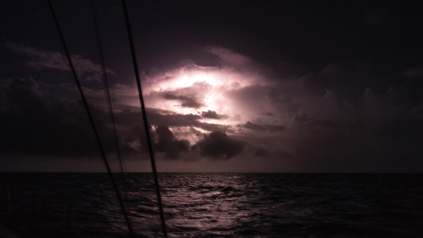 photographing lightning at sea