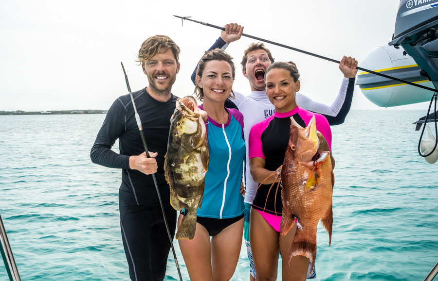 spearfishing in Bahamas