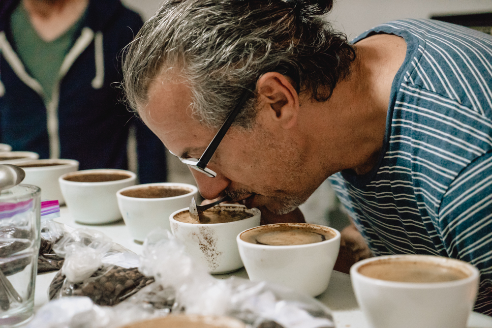 coffee cupping with graciano