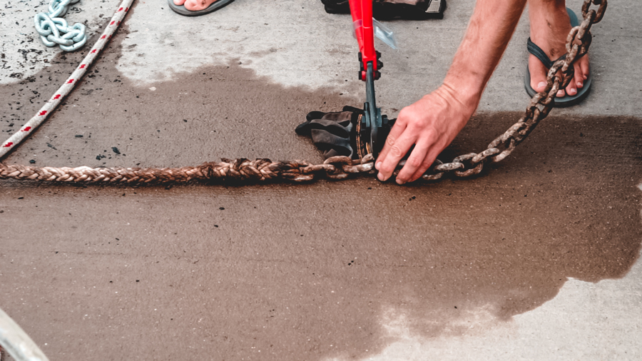 installing a new anchor chain