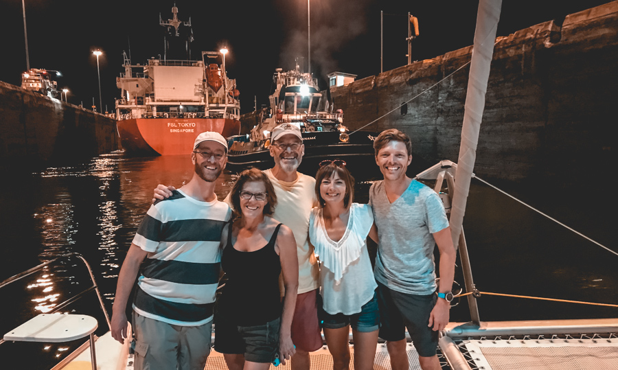 Transiting the panama canal with friends
