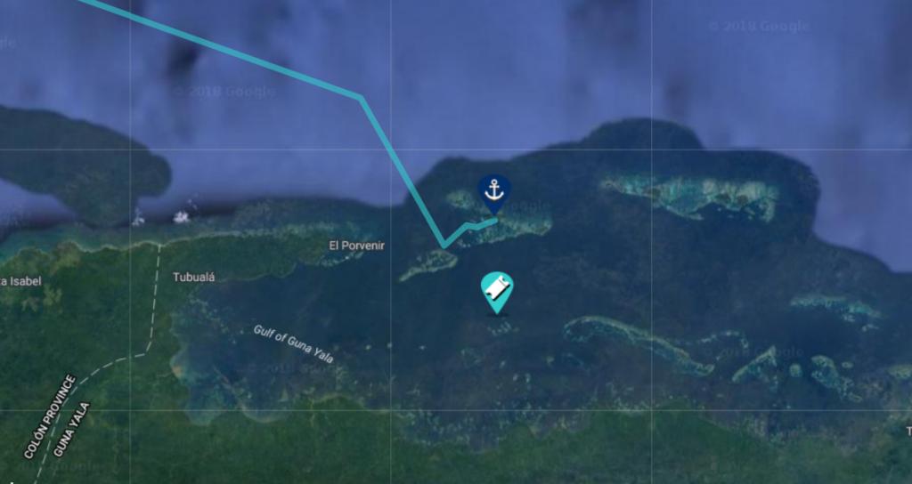 sailing san blas map
