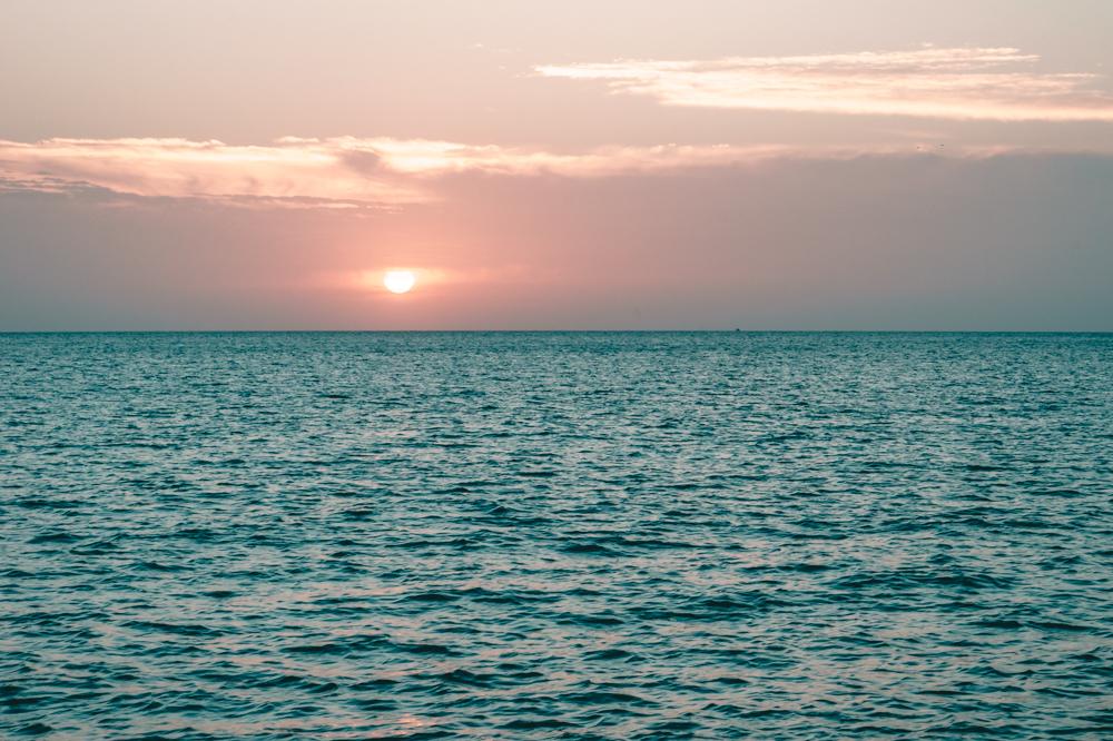 beautiful sunsets at sea
