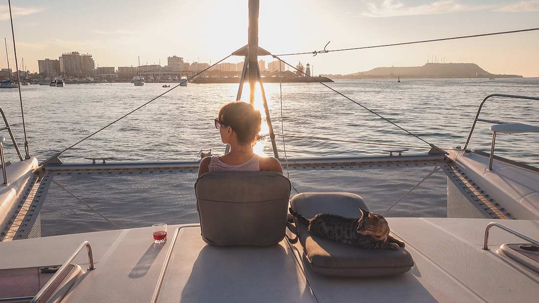 solo on a sailboat