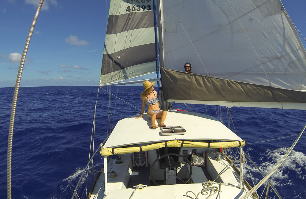 sailing south pacific
