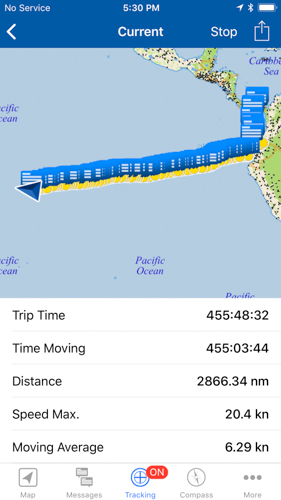 sailing across the pacific tracker