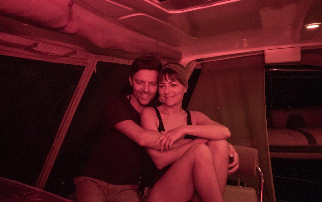 life at sea, snuggles at the helm