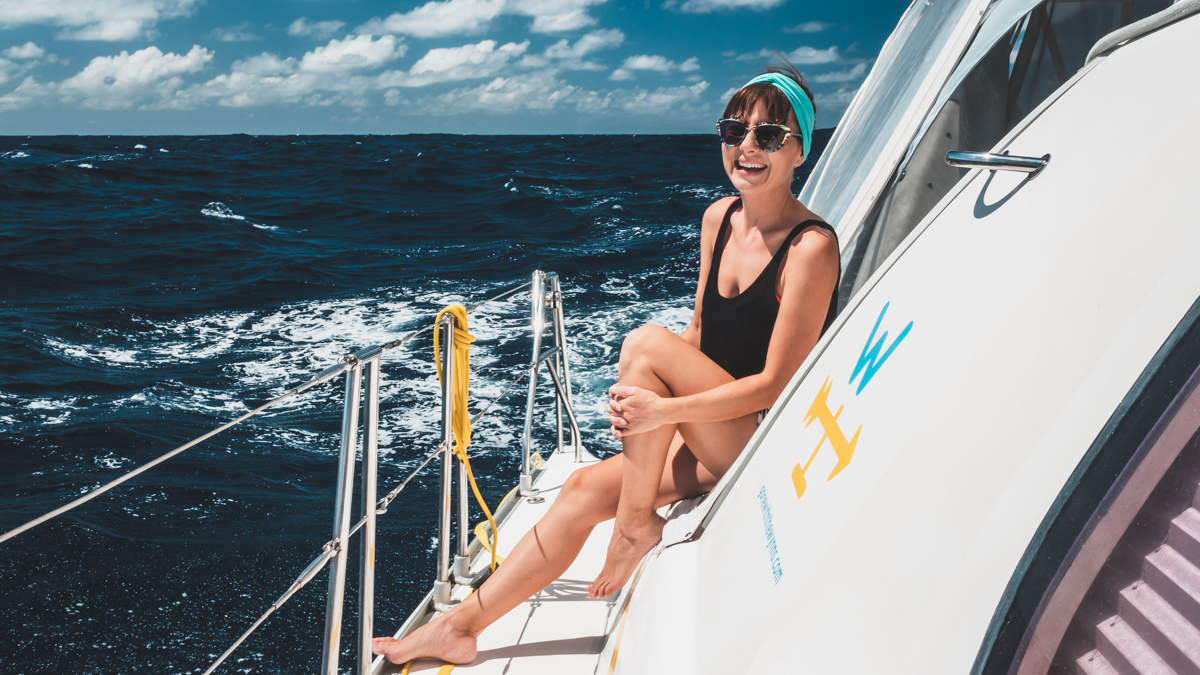life at sea, crossing the pacific