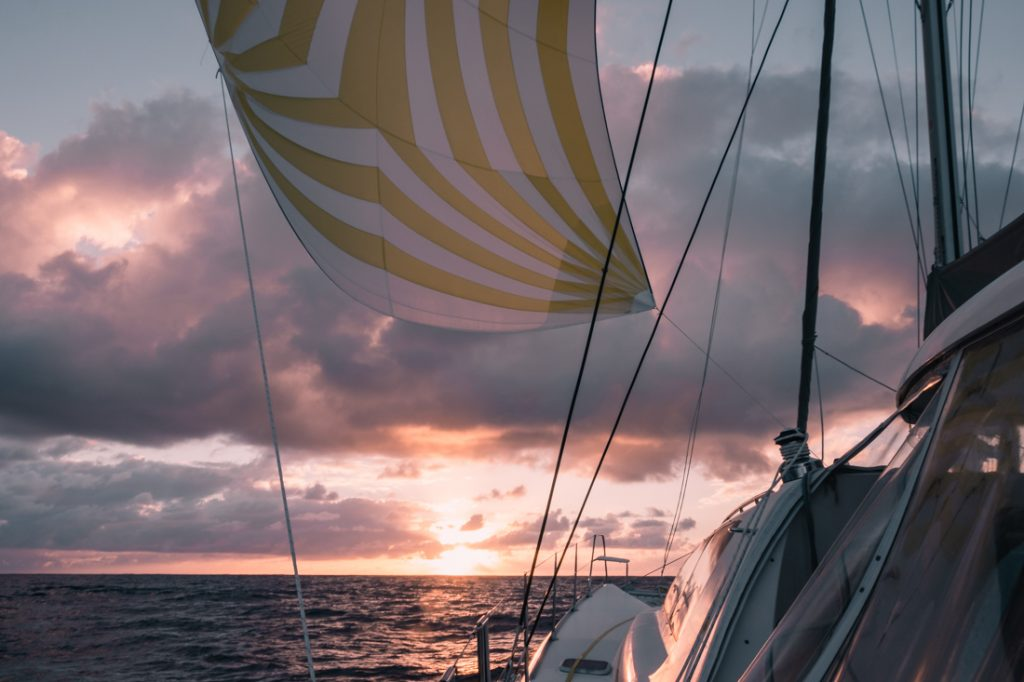 sailing across the pacific ocean