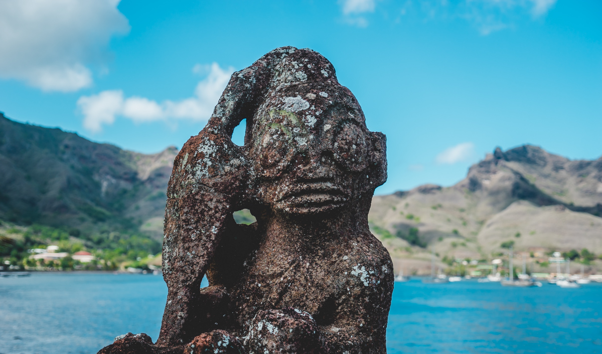 ancient tiki god Nuku Hiva Marquesas