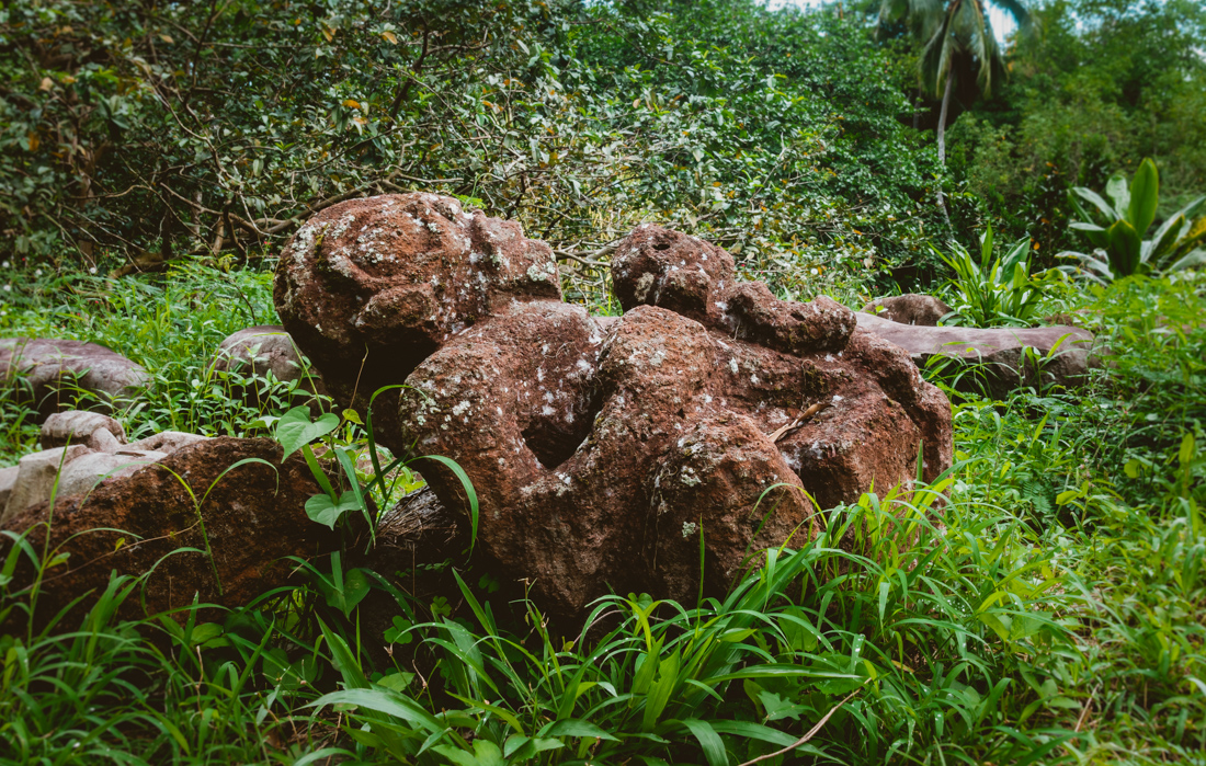 ancient archaeological site of Tohua Koueva in Nuku Hiva Marquesas