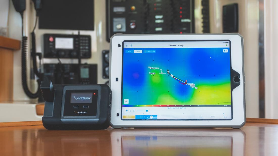 iridium go predict wind sailboat internet