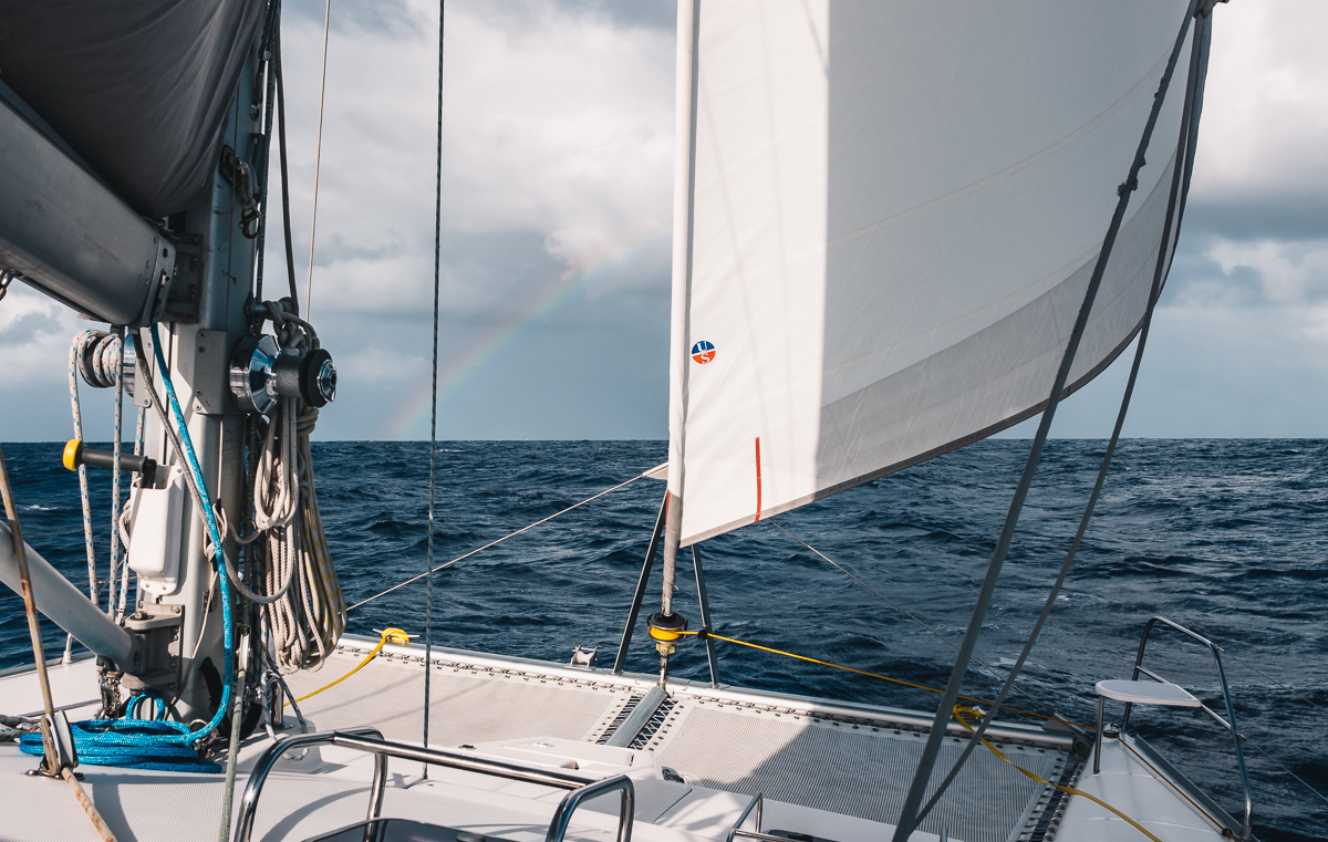squalls, rainbows and sailing curiosity