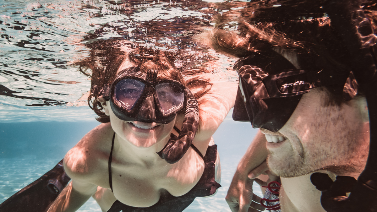 nikki and jason wynn loving the snorkeling in moorea french polynesia