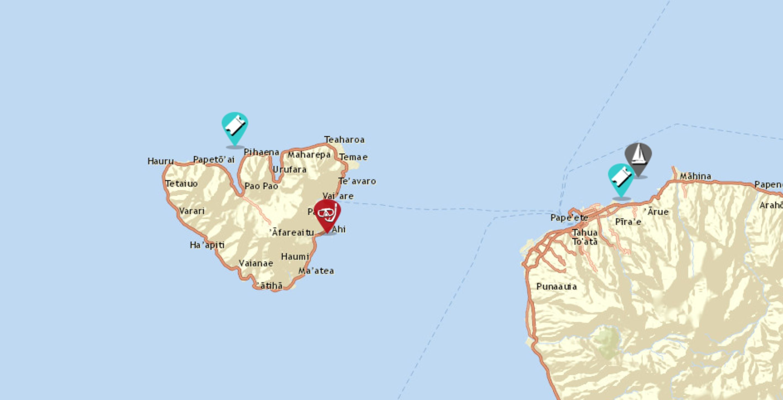 sailing moorea map