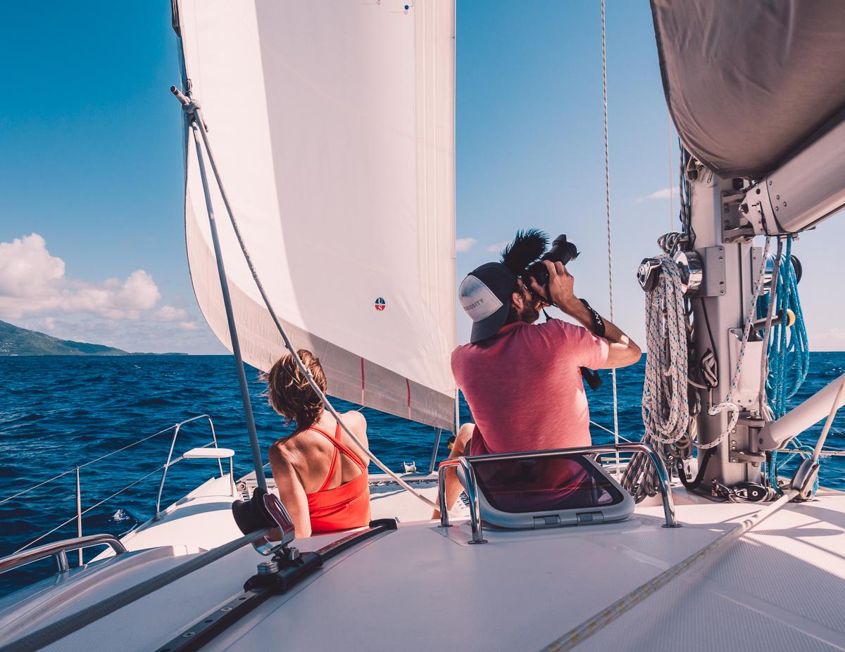 Jason Wynn Sailing with his mom in french polynesia