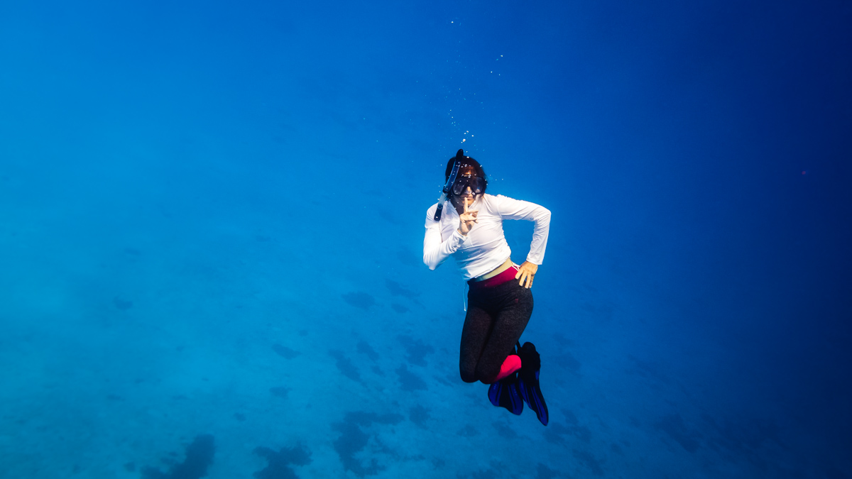 mom freediving adventures in the south pacific