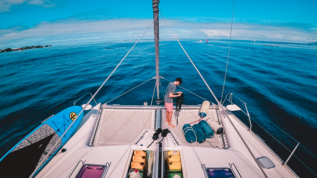 how much fuel does a sailing catamaran use