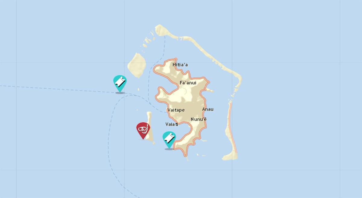 sailing bora bora adventure map