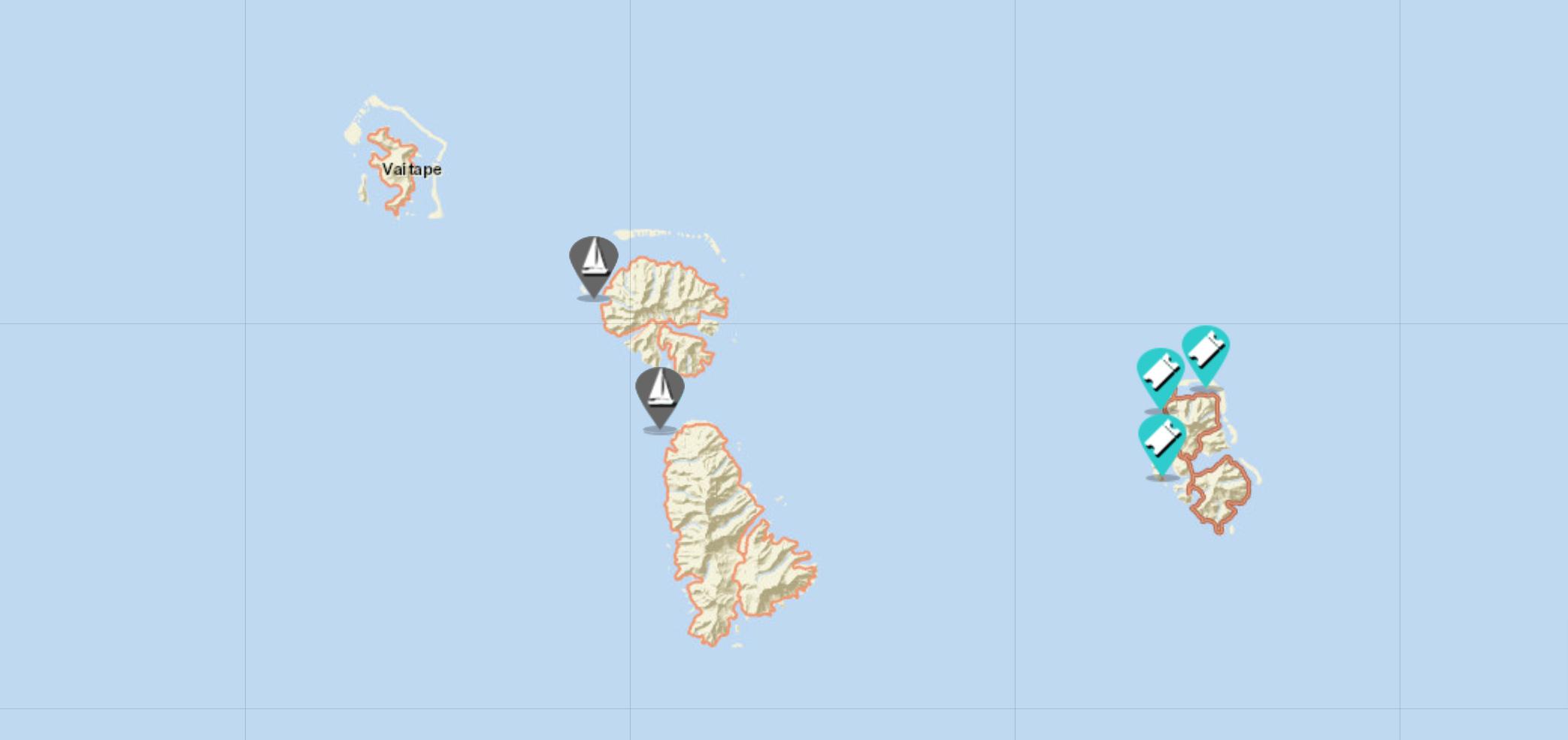 sailing map of society islands