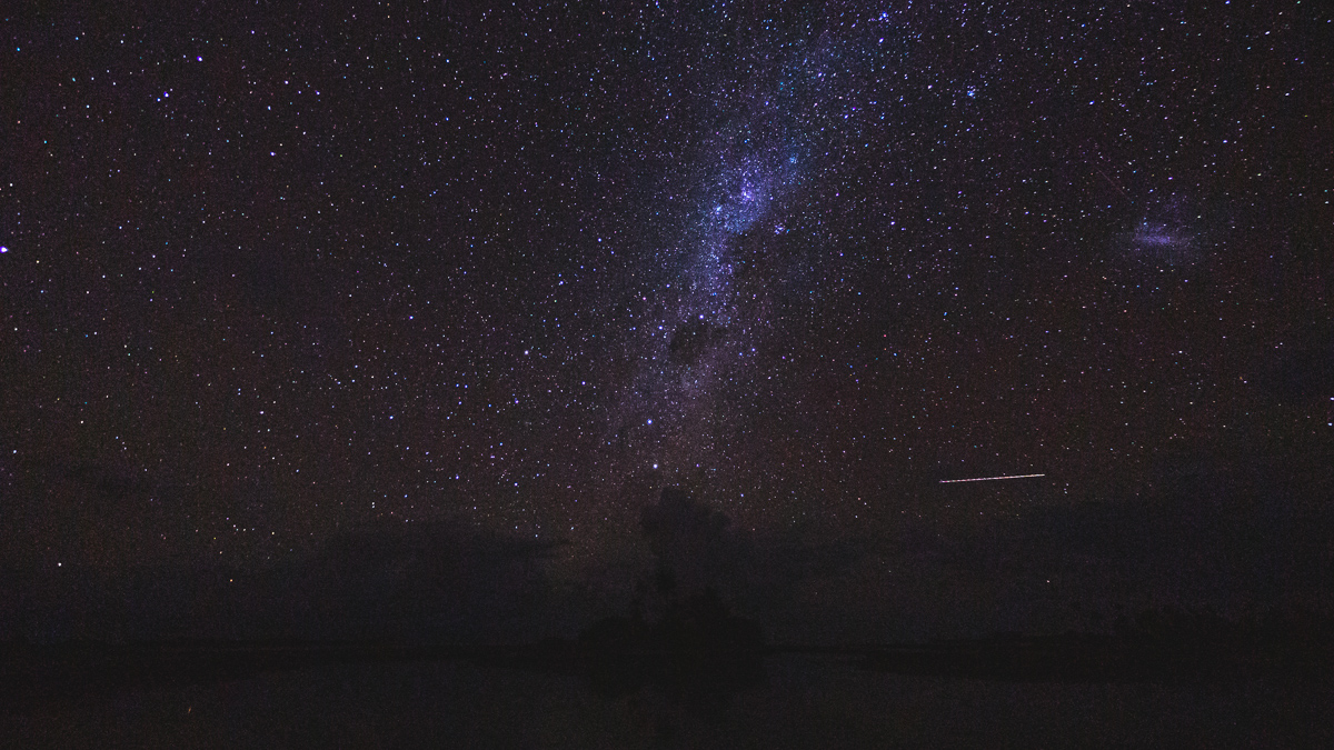 Epic night stars in Fakarava