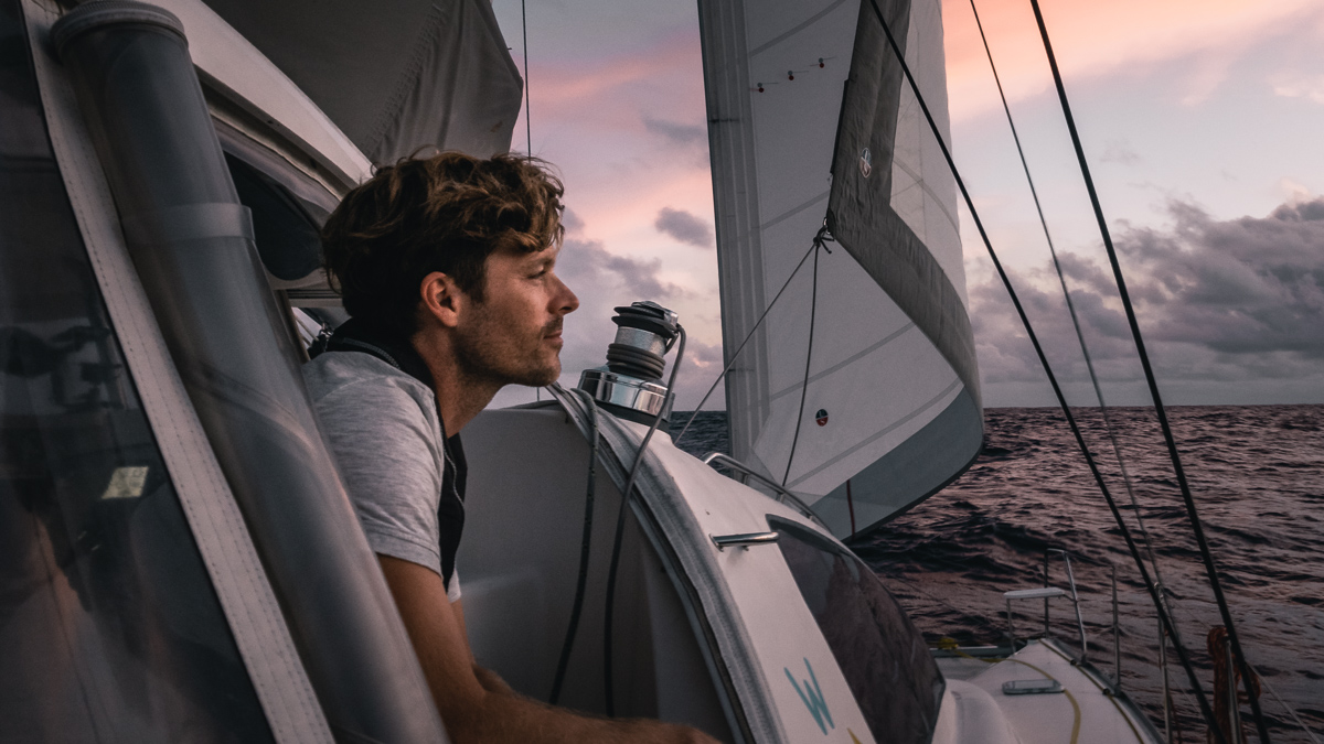 jason wynn contemplating life while sailing aboard curiosity in the south pacific