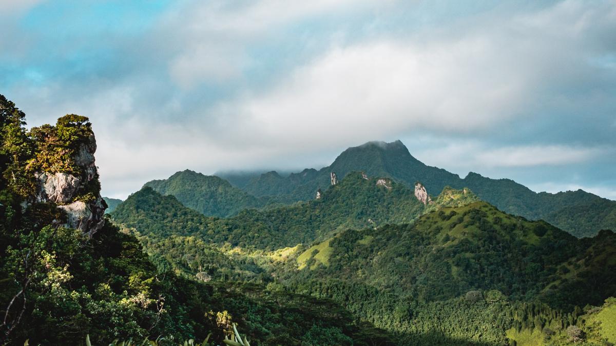 view from the top of Raemaru in Rarotonga Cook Islands