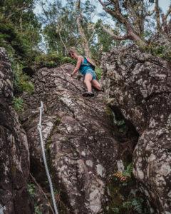 nikki wynn hiking in rarotonga cook islands