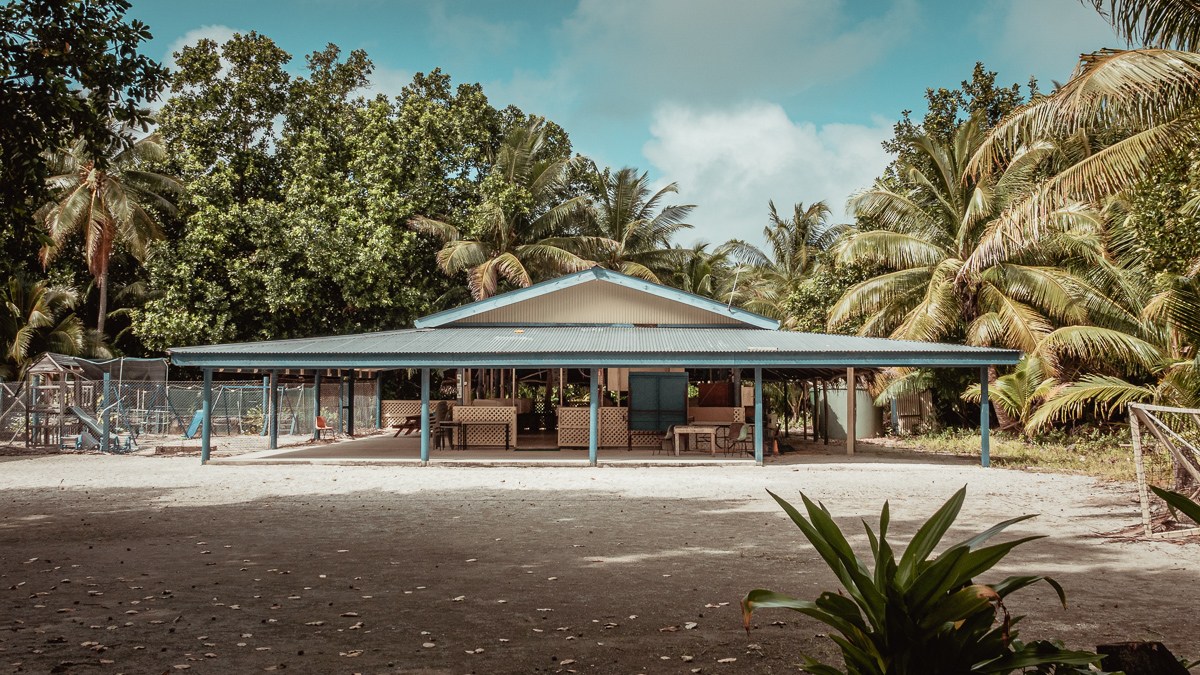 remote island school in palmerston island, cook islands