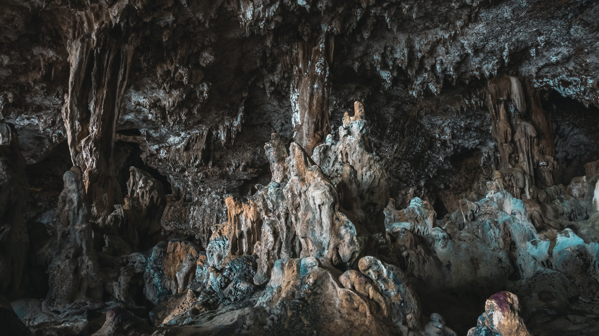 amazing formations in a cave in niue