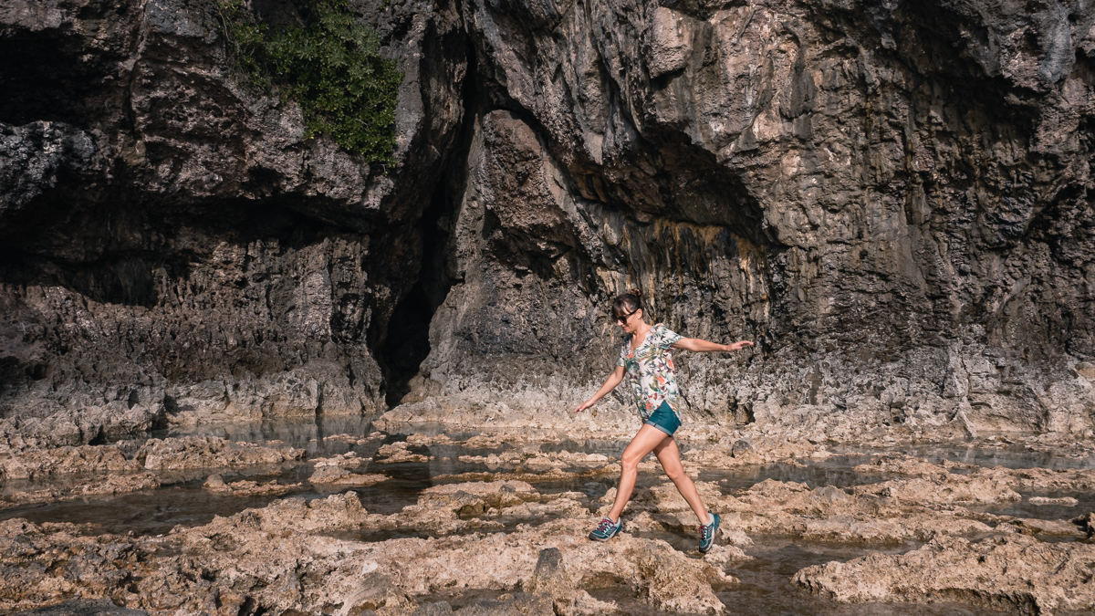 nikki wynn hiking and exploring the incredible rock formations of niue