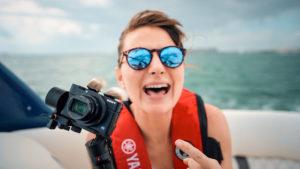 Nikki Wynn in the tesla of the ocean