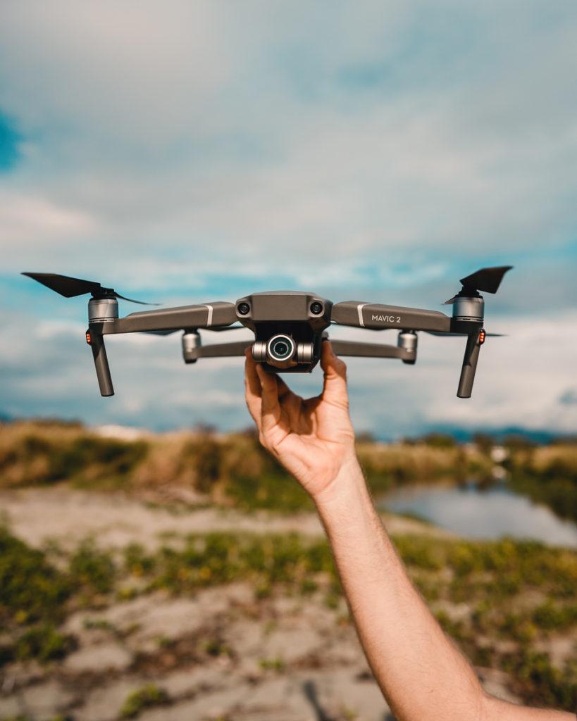 jason wynn holding dji drone