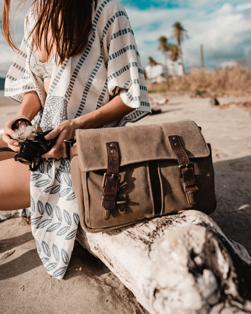 nikki wynn with ona camera bag