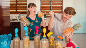 nikki and jason wynn going fermenting crazy in fiji with fermenting pineapples to make tepache