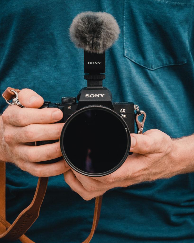 jason wynn holding sony camera