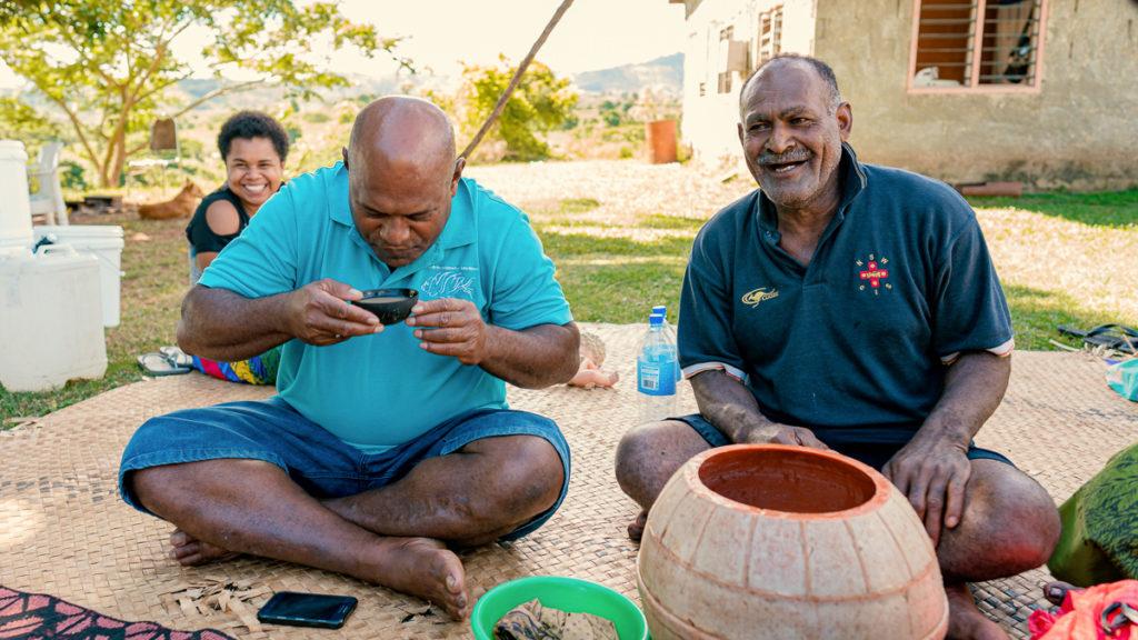 kava with fijians