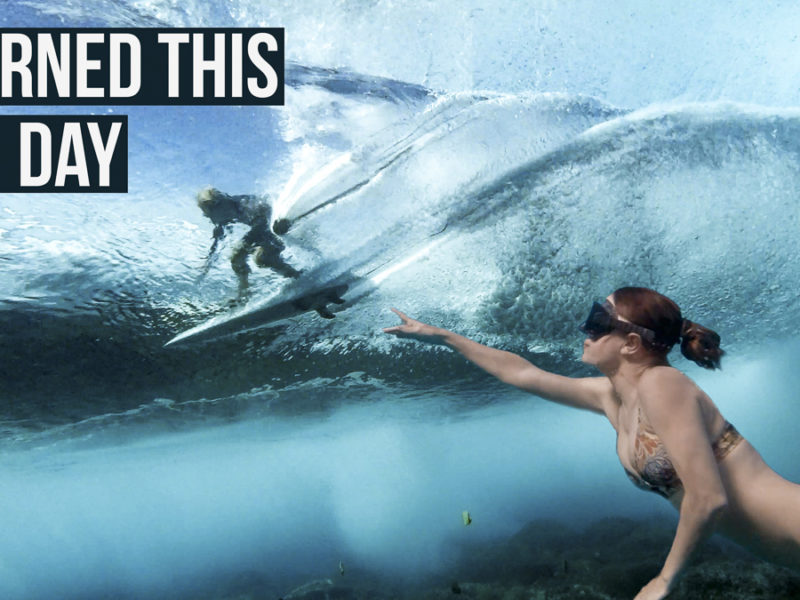 nikki wynn freediving under big wave and surfer