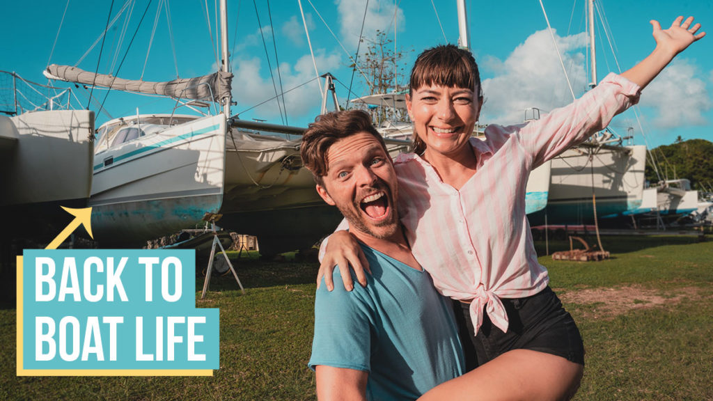 jason and nikki wynn excited to be back in tonga with their sailboat curiosity.